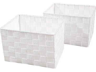 Franz Müller Flechtwaren  Aufbewahrungsbox (Set, 23x15.5x18 cm (BxHxT), weiß