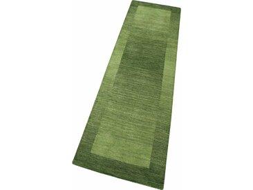 Theko Exklusiv Läufer »Gabbeh Super«, 90x250x0.9 cm (BxLxH), aufwendige Handarbeit, 9 mm Gesamthöhe, grün