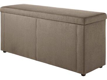 Jockenhöfer Gruppe Bettbank, 144x62x45 cm (BxHxT), braun