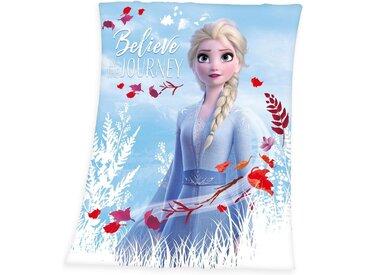 Disney Kinderdecke »Die Eiskönigin 2 - Believe in the Journey«, 130x160 cm, blau