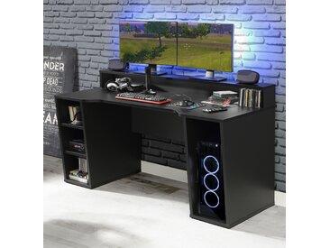 Forte Gamingtisch »Tezaur«, 160x91x72 cm (BxHxT), schwarz