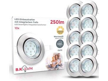 B.k.licht  LED Einbaustrahler, , Höhe 7,0 cm