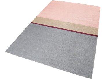 Esprit Teppich  »Midas Kelim«, 5 mm Gesamthöhe, rosa
