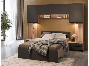 Delavita Schlafzimmer-Set »Adour«, 265.5x206 cm (BxH), schwarz
