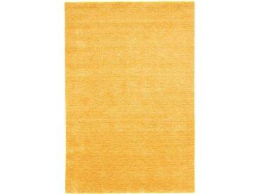Morgenland Wollteppich  »GABBEH FEIN UNI«, 60x90x1.8 cm (BxLxH), 18 mm Gesamthöhe, braun