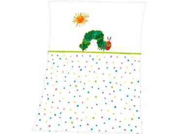 Babydecke »Die kleine Raupe Nimmersatt«, 75x100 cm, Schlafwelt, weiß