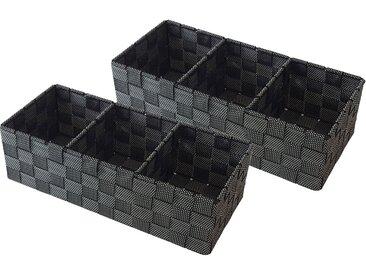 Franz Müller Flechtwaren  Aufbewahrungsbox (Set, 35x10x15 cm (BxHxT), schwarz