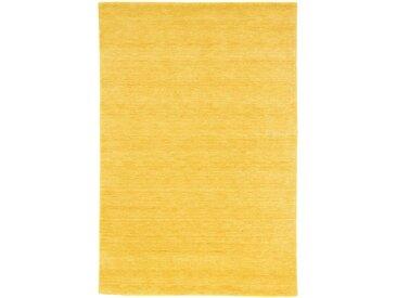 Morgenland Wollteppich  »GABBEH FEIN UNI«, 40x60x1.8 cm (BxLxH), 18 mm Gesamthöhe, gold
