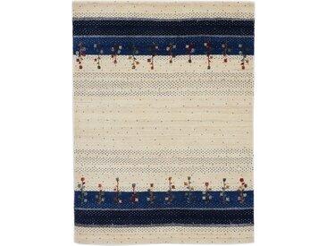 Carpetfine Wollteppich  »Gabbeh Loom Lori«, 200x250x1.5 cm (BxLxH), 15 mm Gesamthöhe, blau