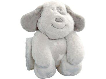 Biederlack Babydecke »Hund«, 75x100 cm, beige