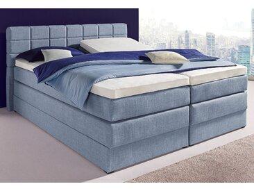 Hapo Boxspringbett, inkl. geräumigem Bettkasten, 160x200 cm, blau