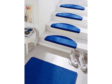 Hanse Home Stufenmatte  »Fancy«, 23x65x0.7 cm (BxLxH), 7 mm Gesamthöhe, blau
