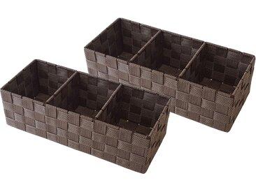 Franz Müller Flechtwaren  Aufbewahrungsbox (Set, 35x10x15 cm (BxHxT), braun