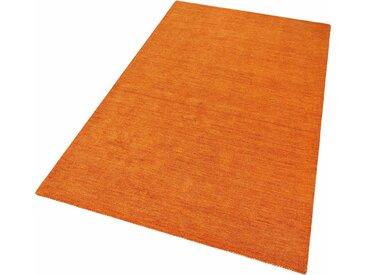 Theko Exklusiv Wollteppich  »Gabbeh uni«, 70x140x1.5 cm (BxLxH), aufwendige Handarbeit, 15 mm Gesamthöhe, braun