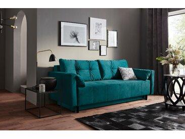 Collection Ab Schlafsofa, 225x80x86 cm (BxHxT), blau, inkl. Bettkasten