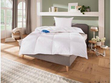 Daunenbettdecke + Kopfkissen »Hanna«, 135x200 cm + 80x80 cm, Schlafwelt, weiß