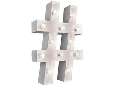 Marquee Lights  LED Dekolicht  »Hashtag Raute«, 42x10x61 cm (BxLxH), weiß