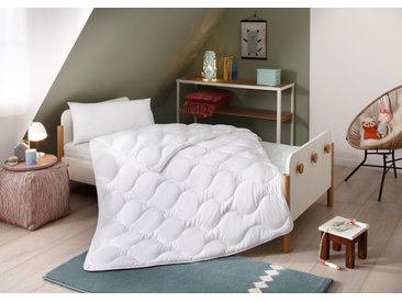Lüttenhütt Kinderbettdecke + Kopfkissen »Micro«, weiß