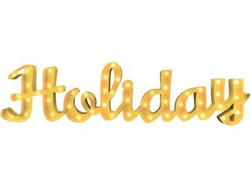 Marquee Lights  LED Dekolicht  »Holiday Schriftzug«, 149x38x38 cm (BxLxH), gelb