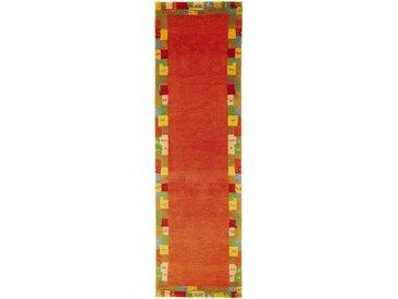 Morgenland Läufer  »GABBEH ELITE«, 80x300x1.9 cm (BxLxH), 19 mm Gesamthöhe, orange