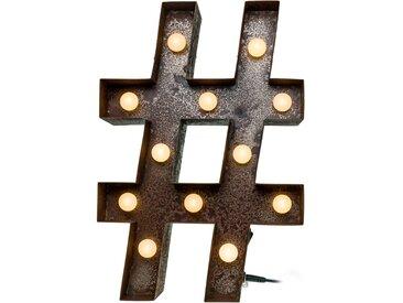 Marquee Lights  LED Dekolicht  »Hashtag Raute«, 26x38x38 cm (BxLxH)