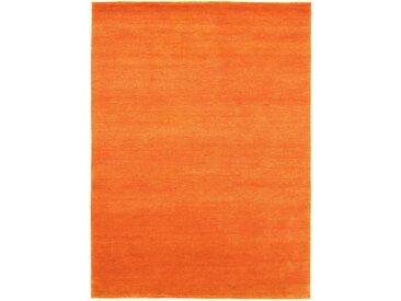 Morgenland Wollteppich  »GABBEH FEIN FLOWY«, 70x140x1.9 cm (BxLxH), 19 mm Gesamthöhe, orange