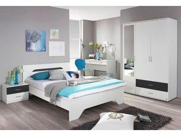 Rauch Blue Jugendzimmer-Set »Noosa«, mit Spiegel und 2 Schubkästen, grau