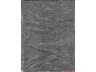 Tom Tailor Wohndecke »Flausch«, waschbar, grau, aus 100% Polyester