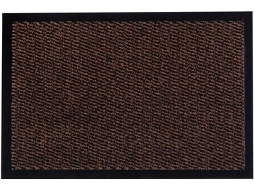 Andiamo Fußmatte  »Easy«, 40x60x0.5 cm (BxLxH), 5 mm Gesamthöhe, braun