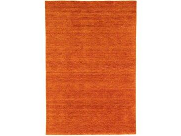 Morgenland Wollteppich  »GABBEH FEIN UNI«, 250x300x1.8 cm (BxLxH), 18 mm Gesamthöhe, orange