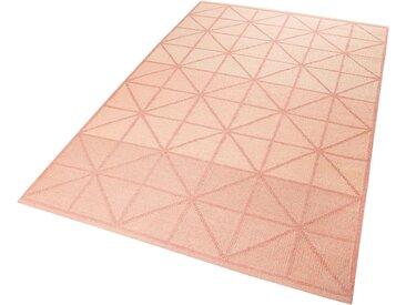 Esprit Teppich  »Noora Kelim«, 5 mm Gesamthöhe, rosa