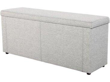 Jockenhöfer Gruppe Bettbank, 184x62x45 cm (BxHxT), grau