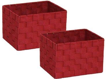 Franz Müller Flechtwaren  Aufbewahrungsbox (Set, 23x15.5x18 cm (BxHxT), rot