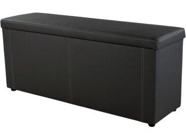 Jockenhöfer Gruppe Bettbank, 144x62x45 cm (BxHxT), schwarz