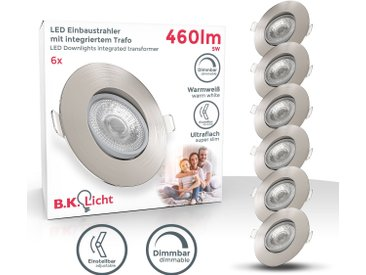 B.k.licht  LED Einbaustrahler, , Höhe 2,4 cm