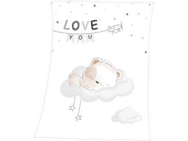 Baby Best Babydecke »Sleeping little bear«, 75x100 cm, weiß