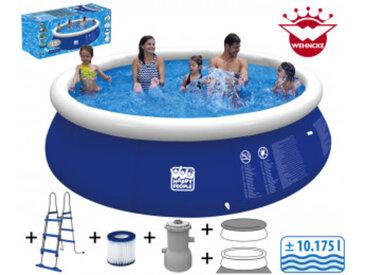 Happy People Quick Up Pool Set mit Filterpumpe ca. Ø 450x90cm