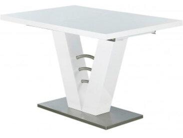 Esstisch Velen Hochglanz weiß ca. 120 (160) x 80 cm