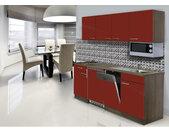 Küchenblock Economy Rot Matt B/h/t: Ca. 195x200x60 Cm