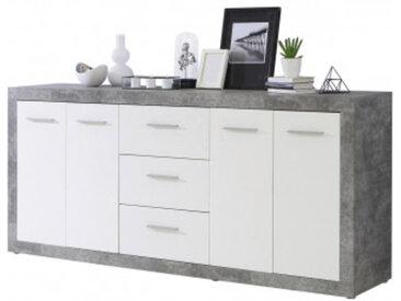 Sideboard Beton Optik/weiß