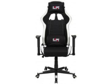 Gaming-Stuhl Game Rocker G-10, Stoffbezug schwarz/weiß