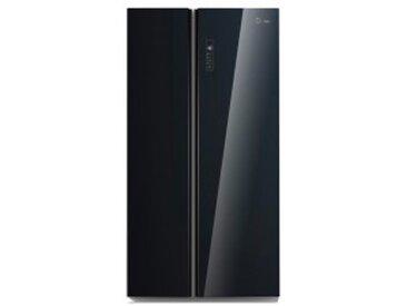 Midea Side-by-Side Kühl-/Gefrierkombination KS 7.1 BL-Glass Glasfront schwarz