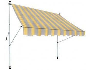 Klemm-Markise gelb grau gestreift ca. 250 x 150 cm