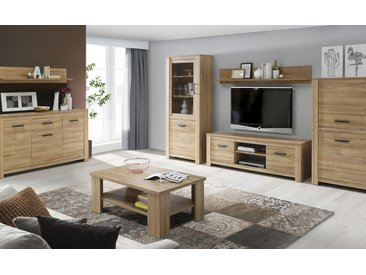 Basispreis* Wohnkombination  Cagliari ¦ holzfarben ¦ Maße (cm):
