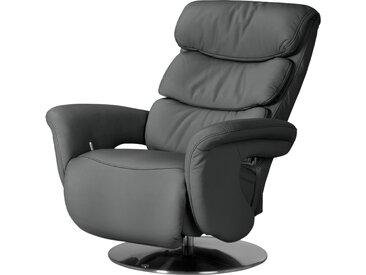 himolla Leder-Relaxsessel grau - Leder 7228 ¦ grau ¦ Maße (cm):