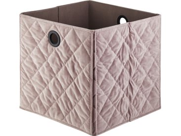 Basispreis* Aufbewahrungsbox ¦ rosa/pink ¦ Samt, Pappe