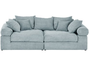 smart Big Sofa  Lionore ¦ grün ¦ Maße (cm): B: 242 H: 86 T: 121