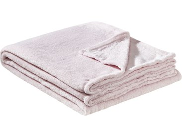 HOME STORY Coralfleecedecke  Emely ¦ rosa/pink ¦ 100% Polyester,