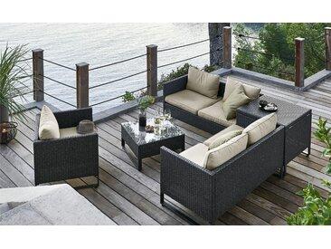 a casa mia Geflecht-Lounge  Venezia 1 ¦ grau ¦ Stahl