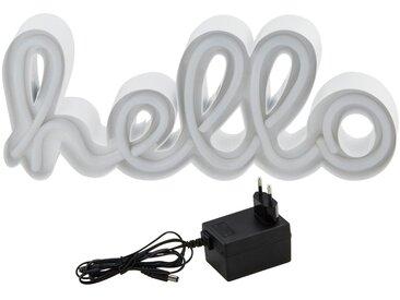 LED Schriftzug  Hello ¦ weiß ¦ Maße (cm): B: 32 H: 15 T: 4